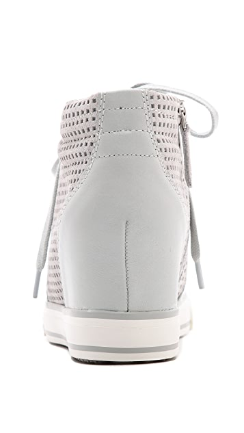 DKNY Cindy Perforated Wedge Sneakers