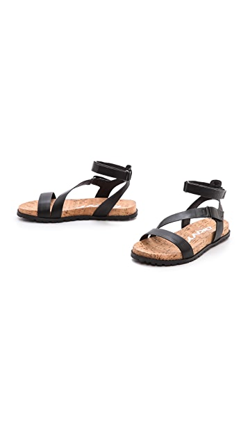 DKNY Sterling Ankle Strap Flat Sandals