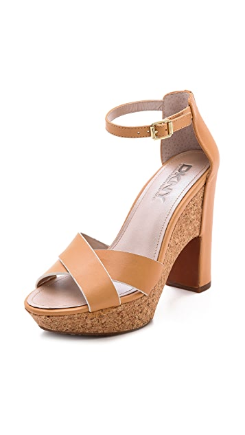 DKNY Willa Ankle Strap Platform Sandals