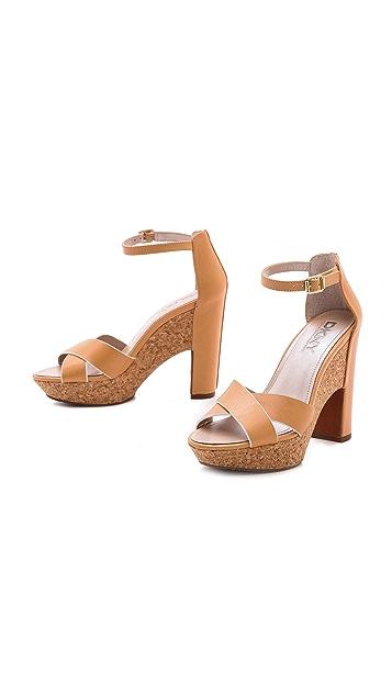 DKNY Willa Ankle Strap Platform Sandals