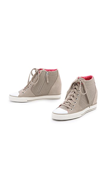 DKNY Cindy Canvas Wedge Sneakers