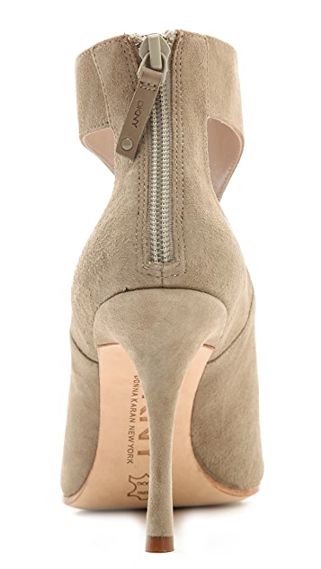 DKNY Lucia Peep Toe Ankle Booties