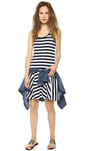 DKNY Sleeveless Flirty Dress