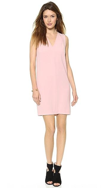 DKNY Sleeveless V Neck Dress