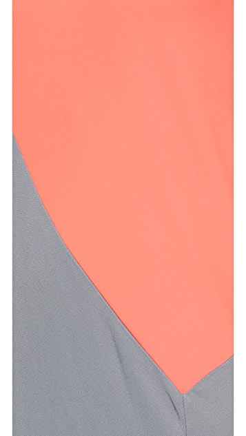 DKNY Colorblocked Sleeveless Dress