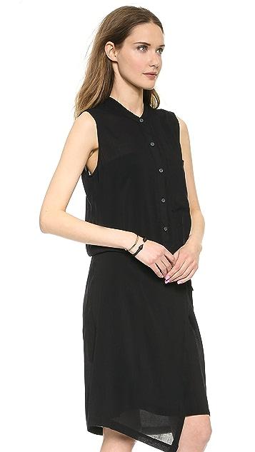 DKNY Pure DKNY Wrap Shirtdress