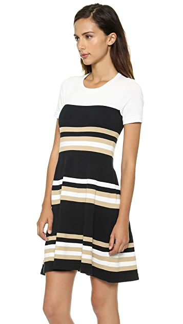 DKNY Striped Sweater Dress