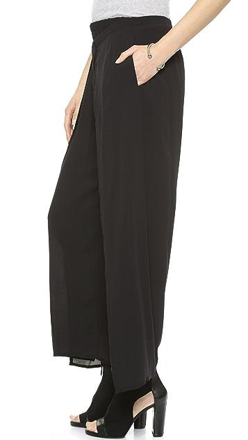 DKNY Pure DKNY Wide Leg Wrap Pants
