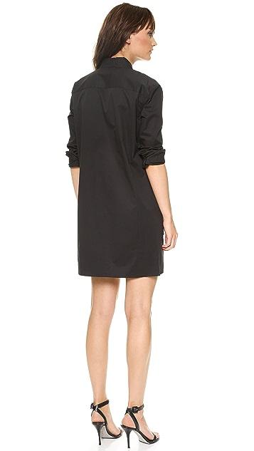 DKNY Long Sleeve Button Thru Shirtdress