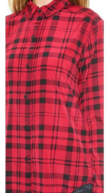 DKNY Long Sleeve Button Thru Blouse