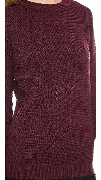 DKNY Drop Shoulder Pullover Sweater