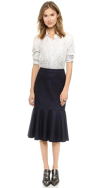 DKNY Skirt with Flounce Hem