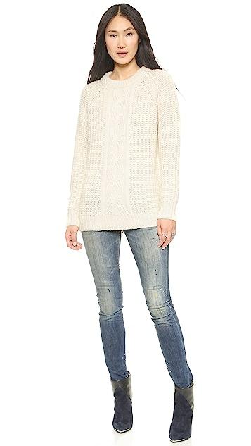DKNY Novelty Stitch Raglan Sleeve Pullover