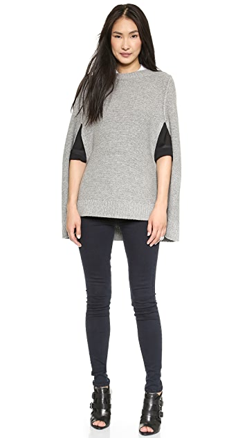DKNY Pure DKNY Wool Knit Cape