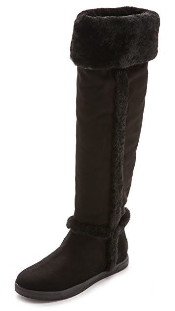 DKNY Bard Tall Fur Lined Boots