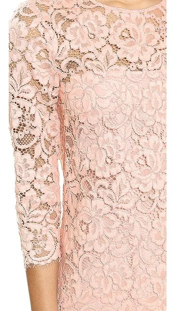 34 Sleeve Lace Shift Dress