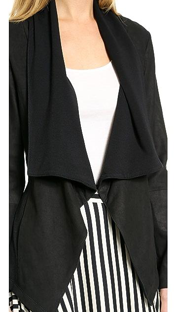 DKNY Pure DKNY Draped Leather Jacket