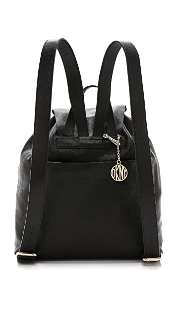 DKNY Leather Backpack