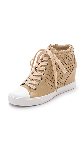 543980d090c DKNY Cindy Perforated Wedge Sneakers
