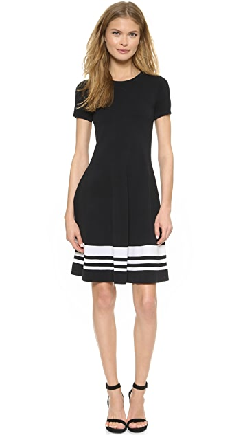 DKNY Striped Border Dress