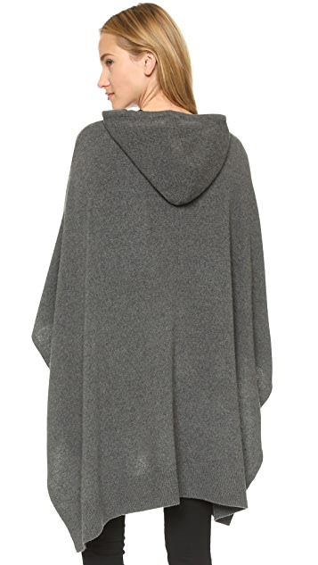 DKNY Hooded Poncho