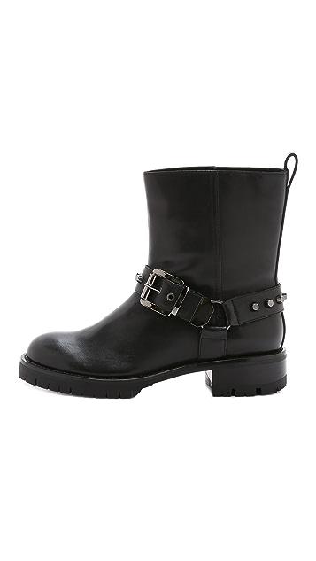 DKNY Marina Buckle Biker Boots