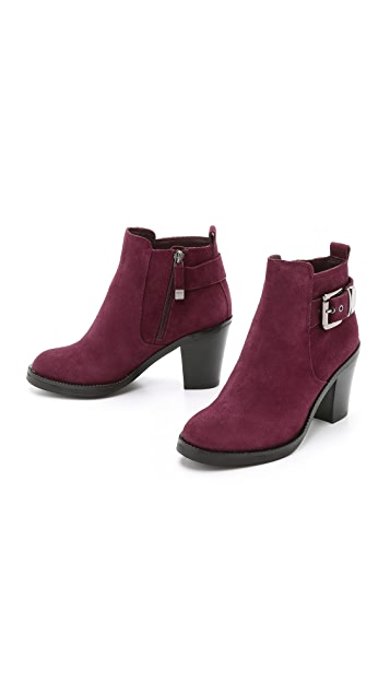 DKNY Willa Suede Chelsea Buckle Booties