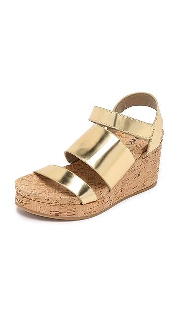 d2e5598ea8a DKNY Lora Cork Wedge Sandals