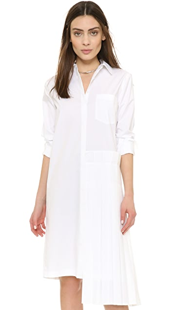 343d9e9986e DKNY Shirtdress with Pleated Skirt