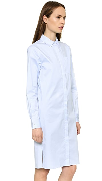 DKNY Long Sleeve Shirtdress