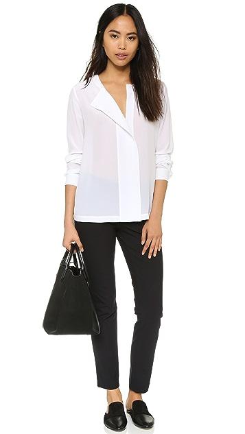 DKNY Pure DKNY Shirt with Knit Back