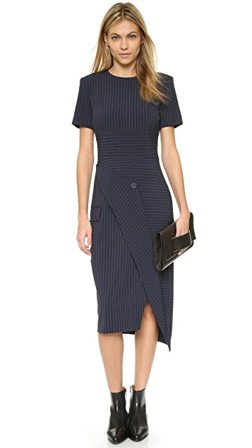 DKNY Runway Short Sleeve Wrap Dress