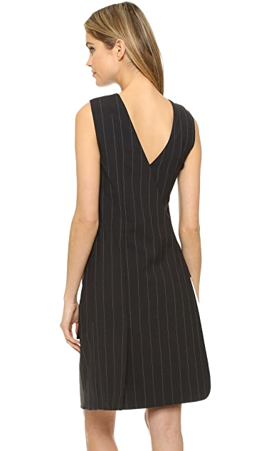 DKNY Runway Sleeveless Wrap Dress