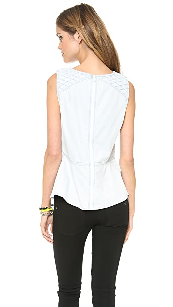 DL1961 Reese Quilted Peplum Top