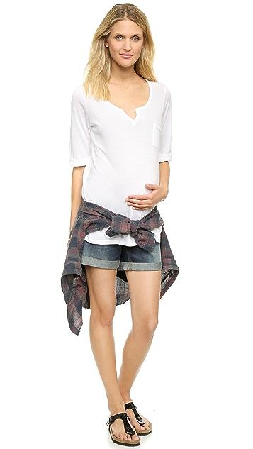 DL1961 Karlie Maternity Roll Up Shorts