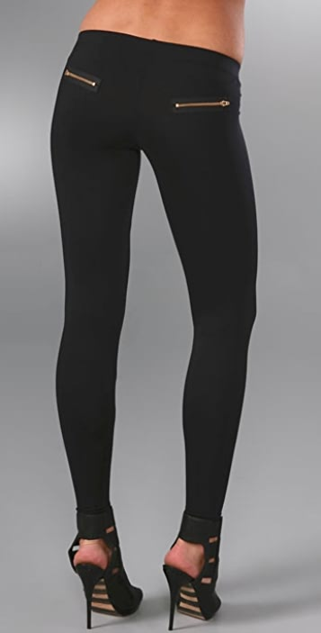David Lerner Double Back Zipper Leggings