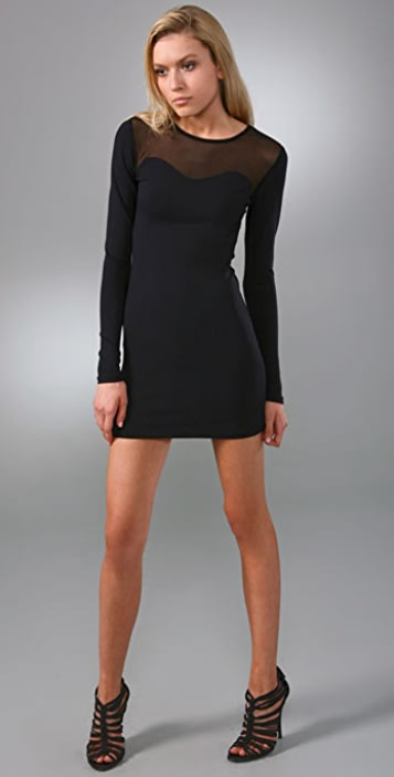 David Lerner Long Sleeve Mesh Dress Shopbop