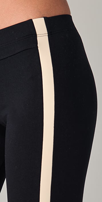 David Lerner Split Ankle Leggings with Leather Inserts