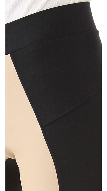 David Lerner Leather Front Leggings