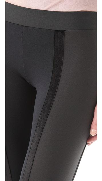 David Lerner Double Velvet Tux Leggings