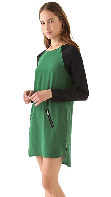 David Lerner Keyhole Colorblock Dress