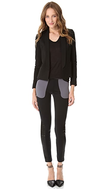 David Lerner Leggings with Leather Inserts