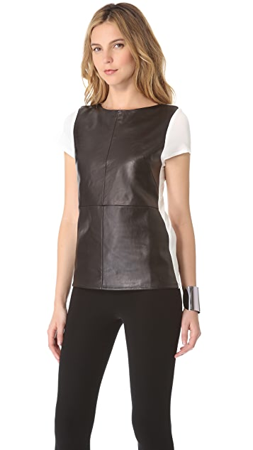 David Lerner Leather Front Tee