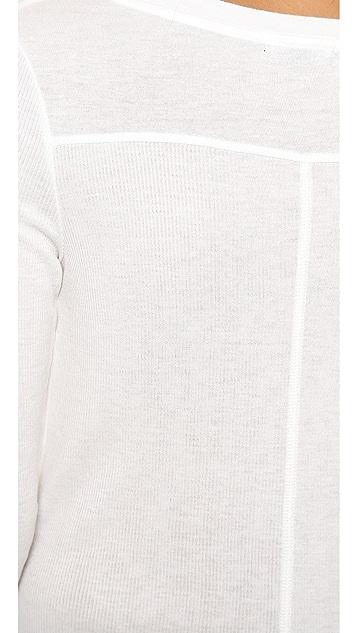 David Lerner Raw Hem Rib Shirt