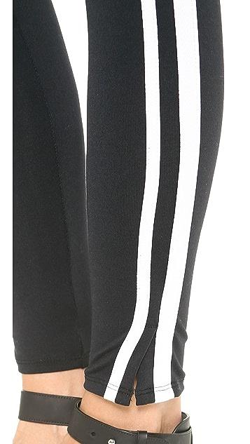 David Lerner Double Tape Tuxedo Leggings