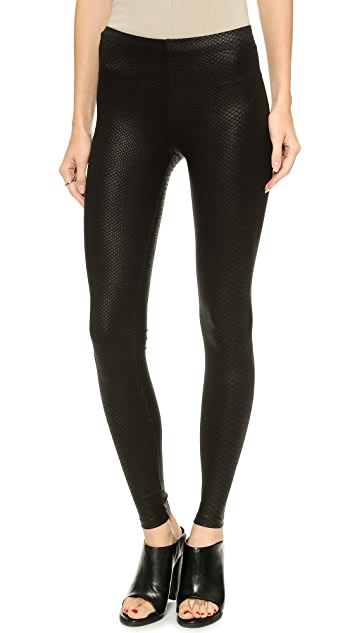 David Lerner Coated Python Leggings