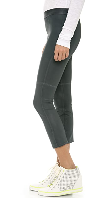 David Lerner Coated Crop Leggings