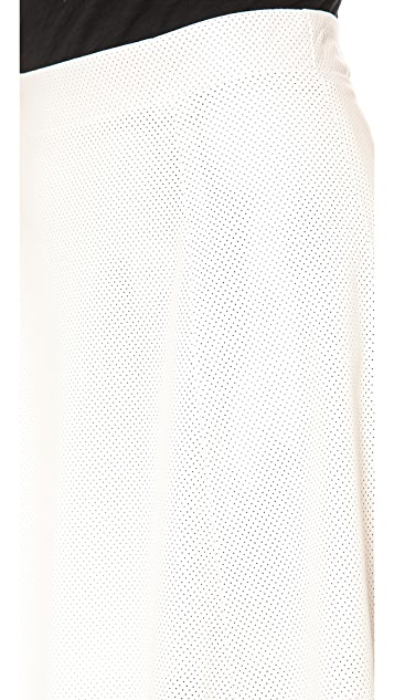 David Lerner Perforated New Bowery Skirt