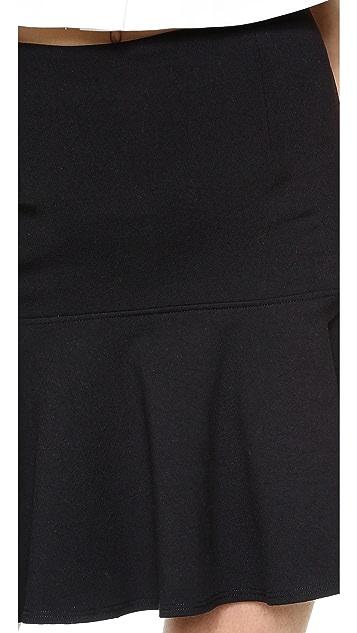 David Lerner Flounce Miniskirt