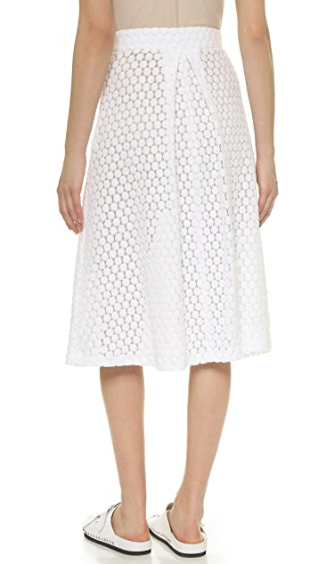 David Lerner Lace Midi Skirt
